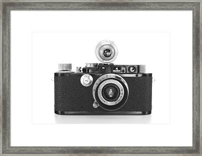 Vintage Camera Framed Print by Chevy Fleet