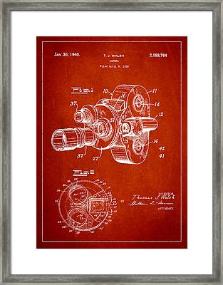 Vintage Camera Patent Drawing From 1938 Framed Print
