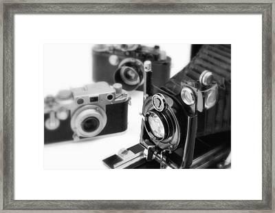 Vintage Cameras Framed Print by Chevy Fleet