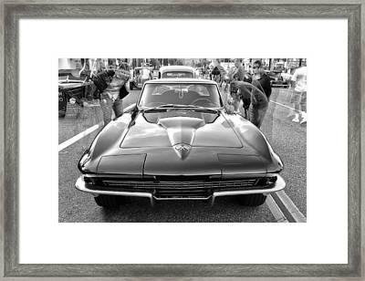 Vintage Corvette Framed Print by Ann Patterson
