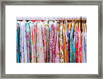 Vintage Dresses Framed Print