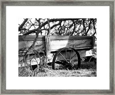 Vintage Farm Wagon Framed Print