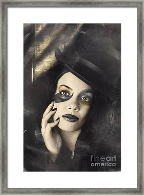 Vintage Fashion Girl In Creative Makeup And Tophat Framed Print by Jorgo Photography - Wall Art Gallery