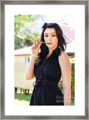 Vintage Fashion Glamour Framed Print by Jorgo Photography - Wall Art Gallery