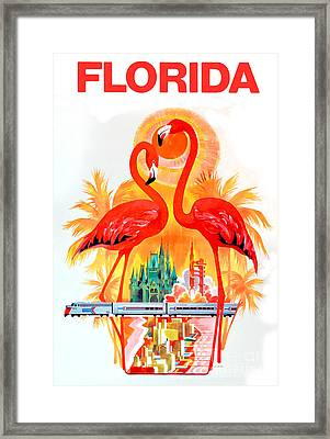Vintage Florida Travel Poster Framed Print
