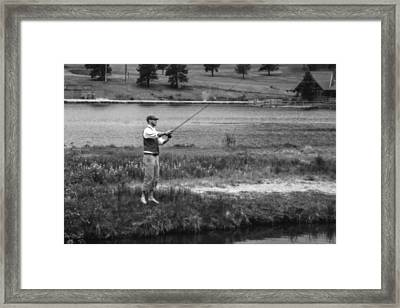 Framed Print featuring the photograph Vintage Fly Fishing by Ron White