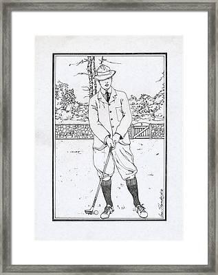 Vintage Golfer Framed Print by Ira Shander