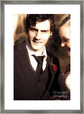 Vintage Groom Framed Print