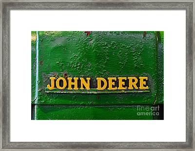 Vintage John Deere Tractor Framed Print