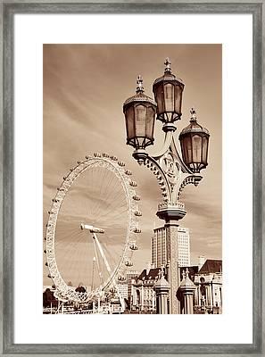 Vintage Lamp Post Framed Print