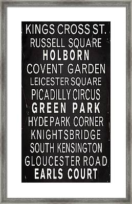 Vintage London Bus Scroll Framed Print by Stephen Walker