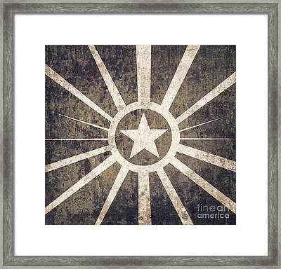 Vintage Military Star Background  Framed Print by Jorgo Photography - Wall Art Gallery