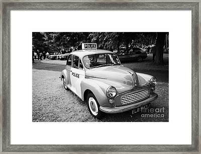 Vintage Morris Minor Police Car At A Car Rally County Down Northern Ireland Uk Framed Print
