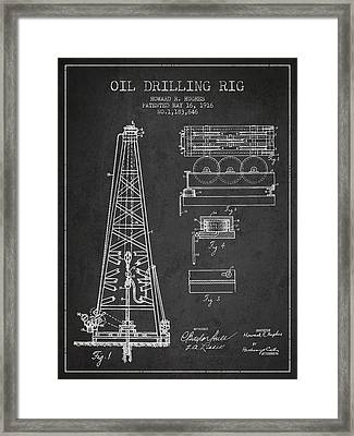 Vintage Oil Drilling Rig Patent From 1916 Framed Print