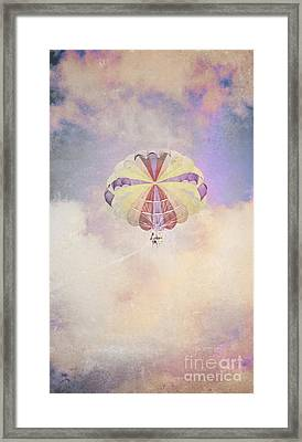 Vintage Parachute In Clouds Framed Print by Jorgo Photography - Wall Art Gallery