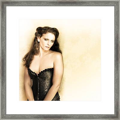 Vintage Portrait Of A Beautiful Woman Framed Print by Jorgo Photography - Wall Art Gallery