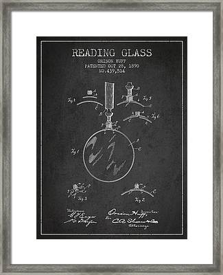 Vintage Reading Glass Patent From 1890 Framed Print