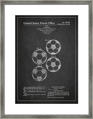 Vintage Soccer Ball Patent Drawing From 1964 Framed Print