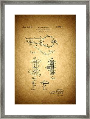 Vintage Surgical Instrument Patent Framed Print by Mountain Dreams