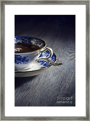 Vintage Teacup Framed Print
