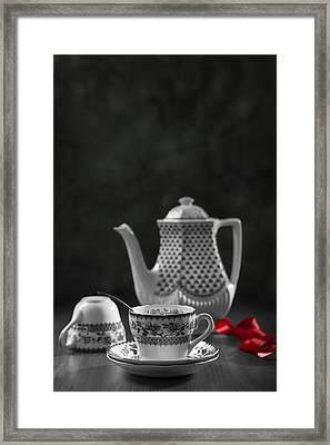 Vintage Teacups Framed Print