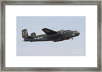Vintage World War II Bomber Framed Print