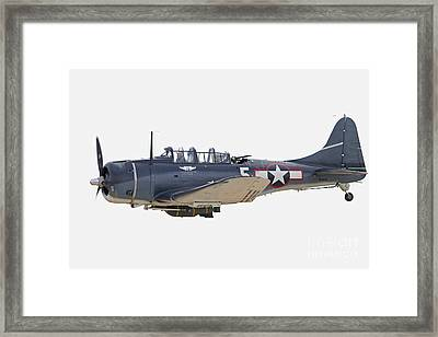 Vintage World War II Dive Bomber Framed Print by Kevin McCarthy