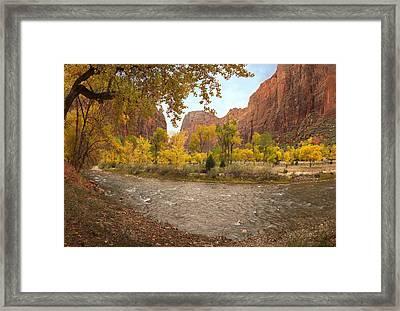 Virgin River Canyon In Autumn Framed Print