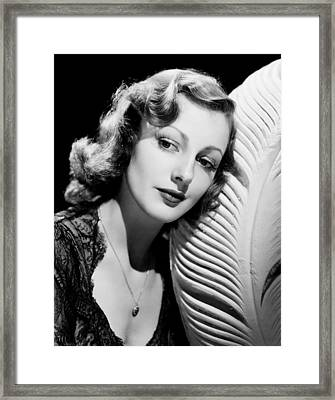 Virginia Grey, Ca. Late 1930s Framed Print by Everett