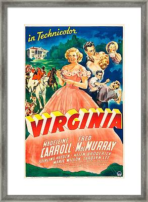 Virginia, Us Poster,  Madeleine Carroll Framed Print by Everett