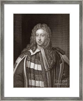 Viscount Bolingbroke, English Statesman Framed Print