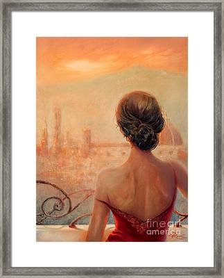 Visions Of Florence Framed Print