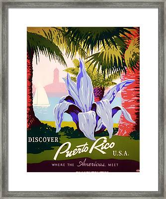 Visit Puerto Rico 1938 Framed Print by Mountain Dreams