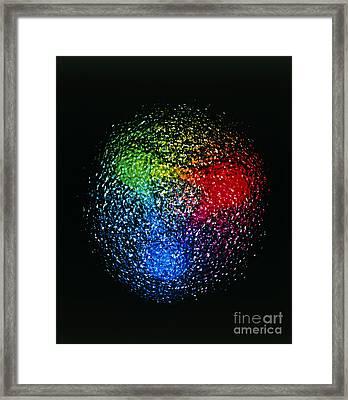 Visualization Of Quark Structure Framed Print by ArSciMed