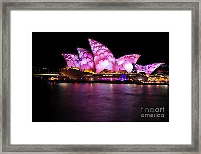 Vivid Sydney 2014 - Opera House 2 By Kaye Menner Framed Print by Kaye Menner