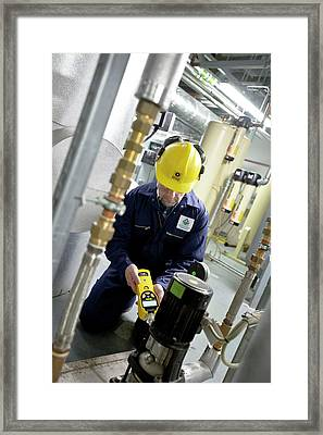 Volatile Organic Compounds Monitoring Framed Print by Crown Copyright/health & Safety Laboratory Science Photo Library