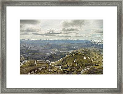 Volcano Valley In Iceland Framed Print
