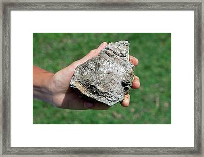 Volcanogenic Massive Sulphide Ore Deposit Framed Print by Phil Hill/science Photo Library
