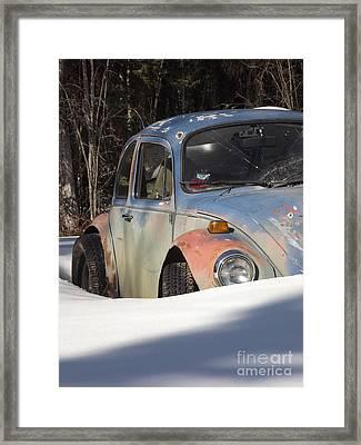 Volkswagen Beetle Framed Print by Jennifer Kimberly