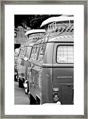Volkswagen Vw Bus Framed Print by Jill Reger