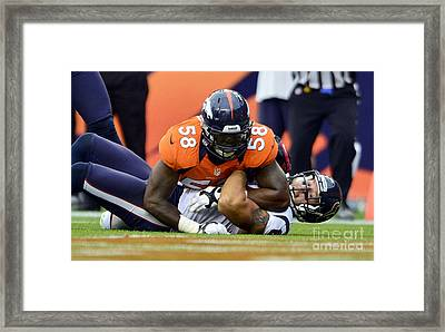 Von Miller Framed Print by Marvin Blaine