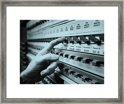 Voting, 1970 Framed Print by Bruce Roberts