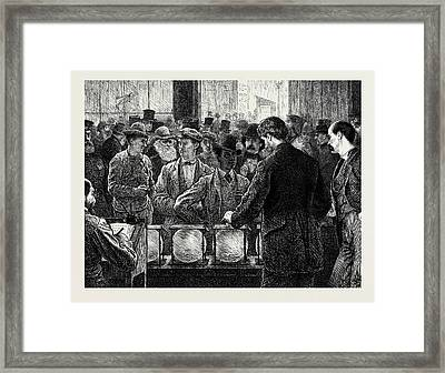 Voting By Ballot In The United States Framed Print by American School