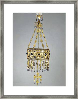 Votive Crown Of Recesvinto. 653-672 Framed Print by Everett