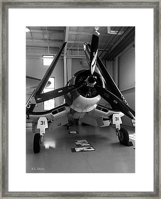 Framed Print featuring the photograph Vought Fg-1d Corsair by Rebecca Davis