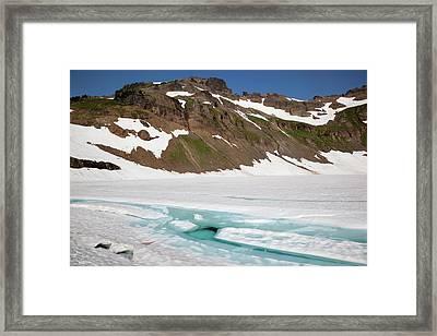 Wa, Goat Rocks Wilderness, Melt Water Framed Print