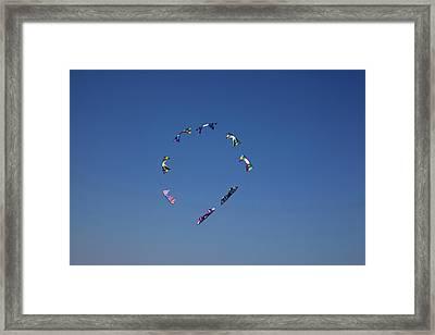 Wa, Long Beach, International Kite Framed Print