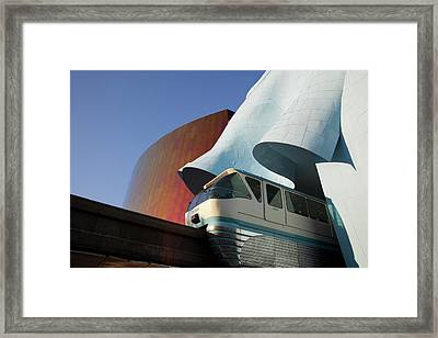 Wa, Seattle, Seattle Center, Monorail Framed Print by Jamie and Judy Wild