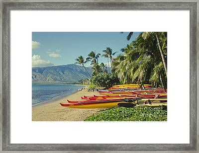 Framed Print featuring the photograph Kenolio Beach Sugar Beach Kihei Maui Hawaii  by Sharon Mau