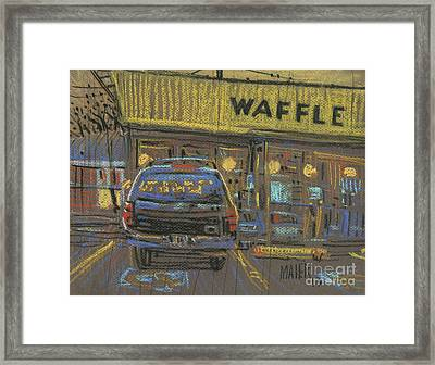 Framed Print featuring the painting Waffle House by Donald Maier